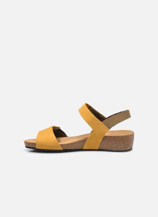Sandalen Plakton Norita gelb ansicht von vorne
