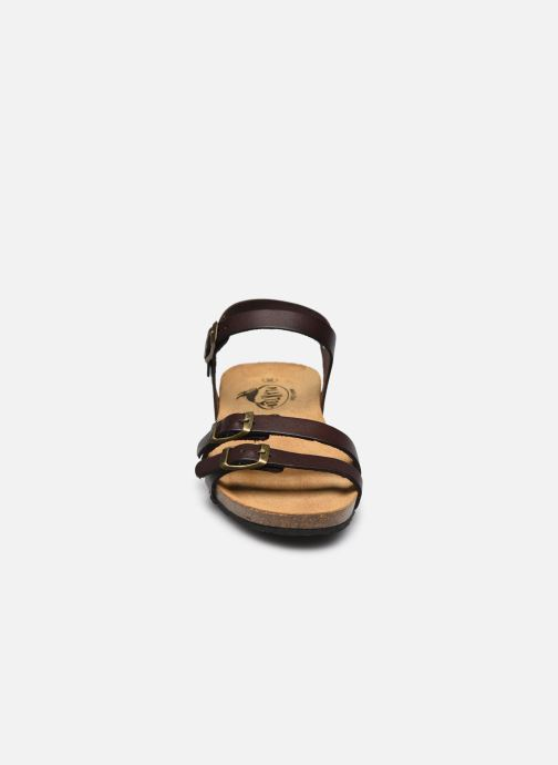 Sandalen Plakton Novella braun schuhe getragen