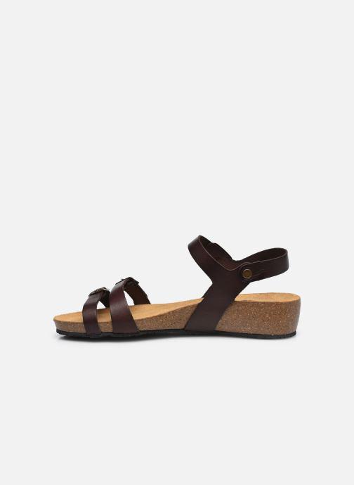 Sandalen Plakton Novella braun ansicht von vorne