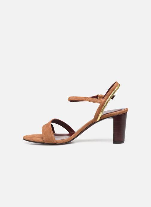 Sandalen Avril Gau Alium braun ansicht von vorne