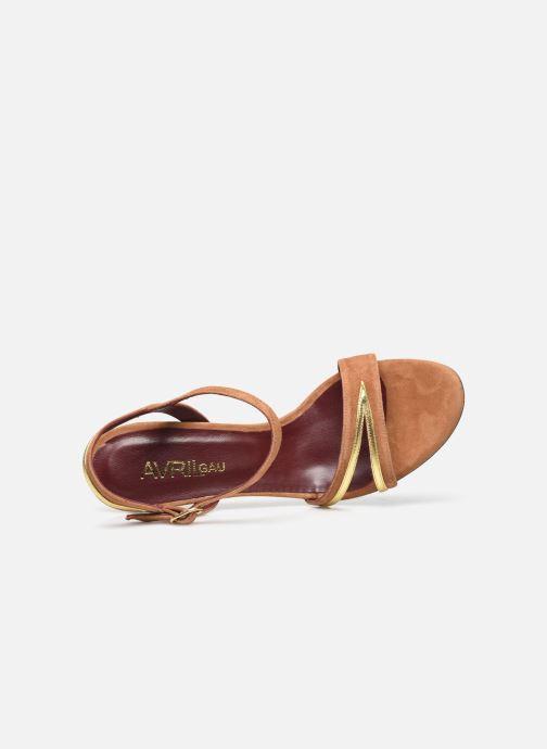 Sandalen Avril Gau Alium braun ansicht von links