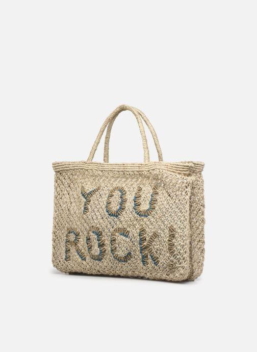Handtaschen The Jacksons Your Rock - Small beige ansicht von rechts