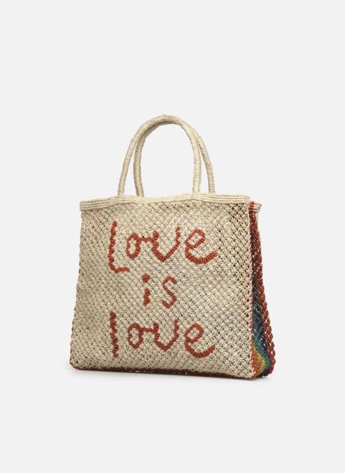 Handtaschen The Jacksons Love is love -Large beige schuhe getragen