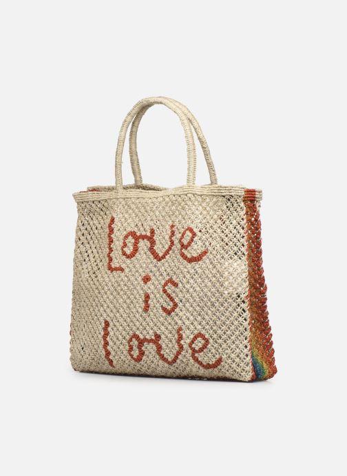 Handtaschen The Jacksons Love is love -Large beige ansicht von rechts