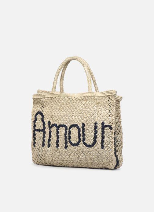 Handtaschen The Jacksons Amour - Small beige ansicht von rechts