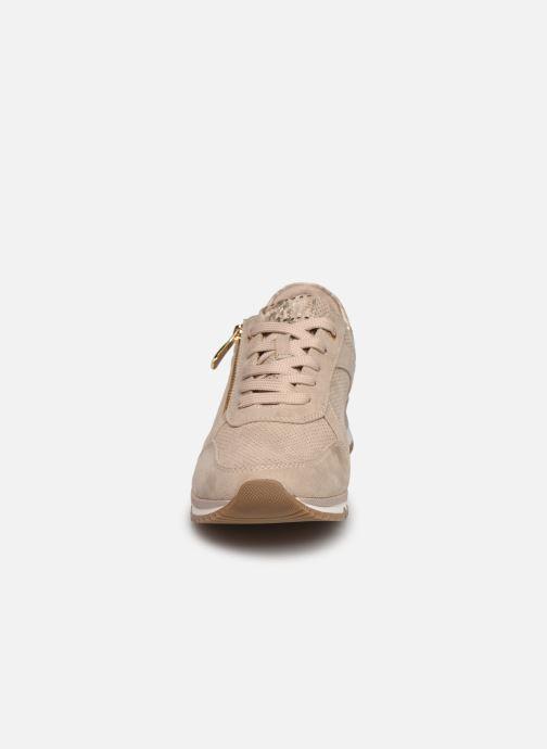 Baskets Marco Tozzi Delia Beige vue portées chaussures