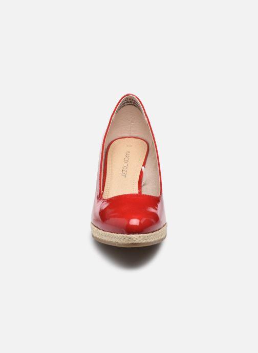 Espadrilles Marco Tozzi Fedora Rouge vue portées chaussures