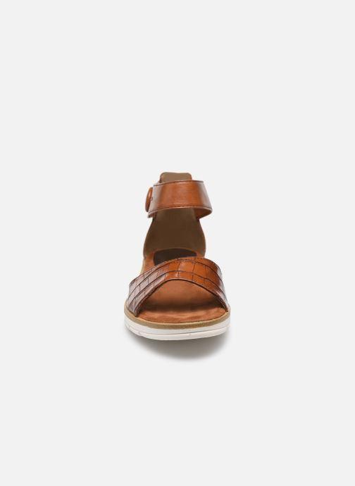 Sandales et nu-pieds Marco Tozzi mikas Marron vue portées chaussures