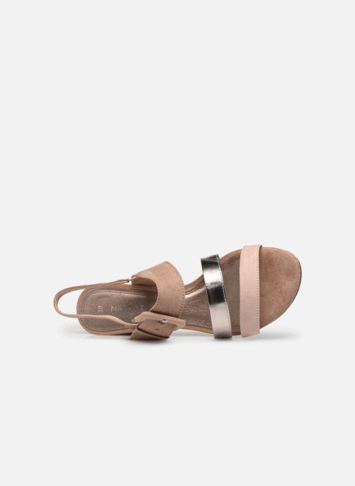 Sandales et nu-pieds Marco Tozzi Sandra Beige vue gauche