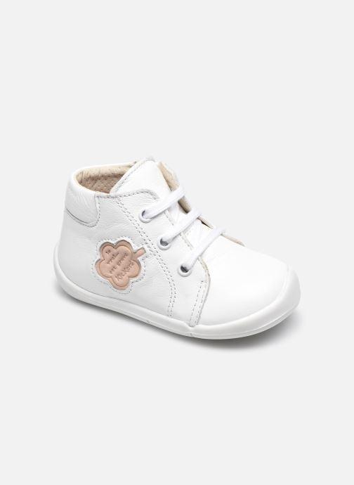 Bottines et boots Kickers Waouk Blanc vue détail/paire