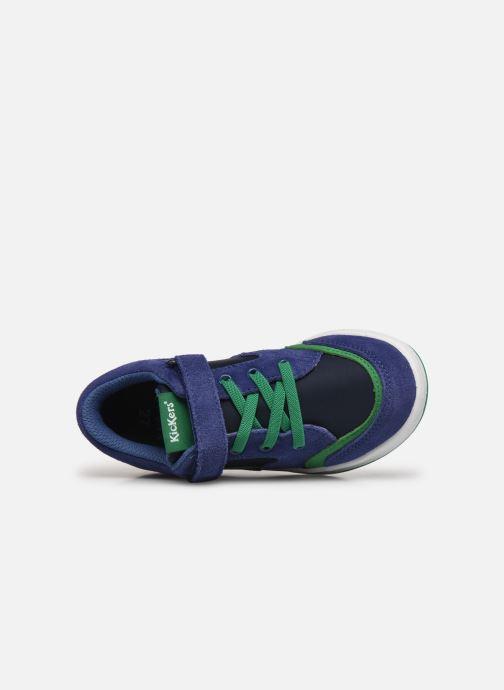 Sneaker Kickers Bisckuit blau ansicht von links