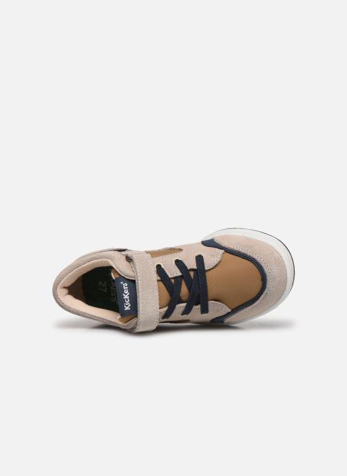 Sneakers Kickers Bisckuit Beige immagine sinistra