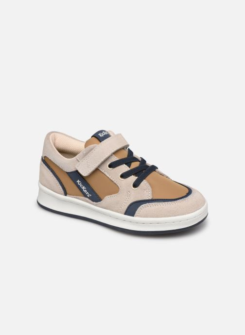 Sneakers Kickers Bisckuit Beige detaljeret billede af skoene