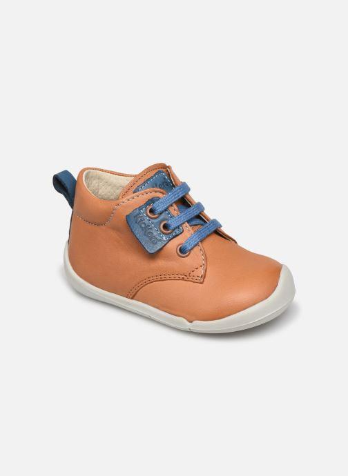 Bottines et boots Kickers Wazzap Marron vue détail/paire