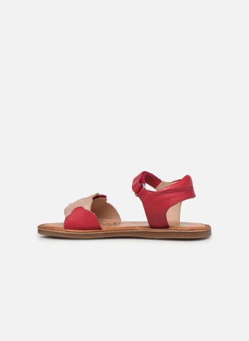 Sandalen Kickers Dyastar rosa ansicht von vorne