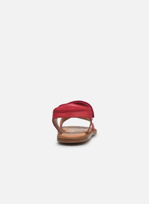 Sandalen Kickers Dyastar rosa ansicht von rechts