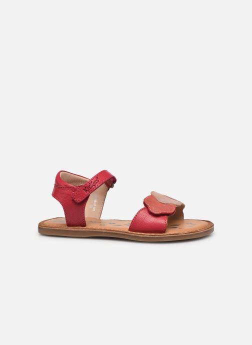 Sandalen Kickers Dyastar rosa ansicht von hinten