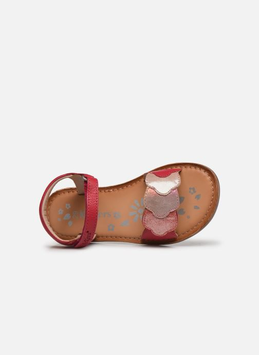 Sandalen Kickers Dyastar rosa ansicht von links