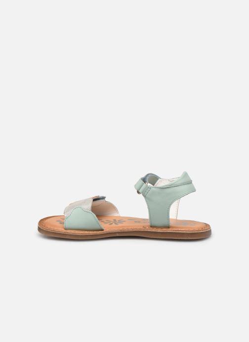 Sandalen Kickers Dyastar grün ansicht von vorne