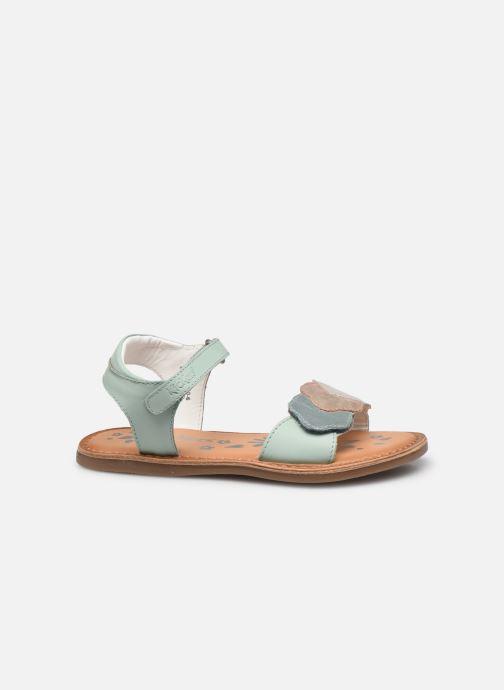 Sandalen Kickers Dyastar grün ansicht von hinten
