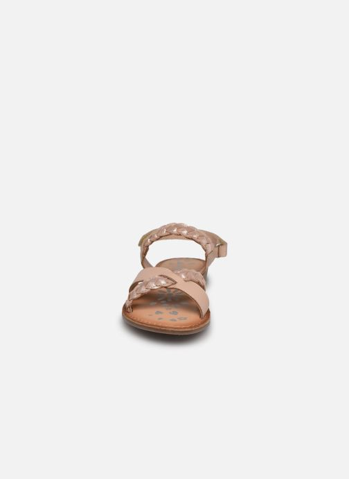 Sandalen Kickers Dimdami rosa schuhe getragen