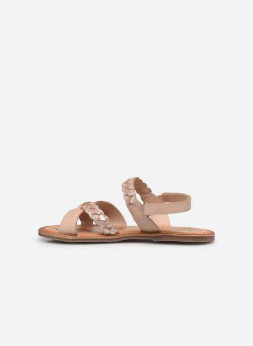 Sandalen Kickers Dimdami rosa ansicht von vorne