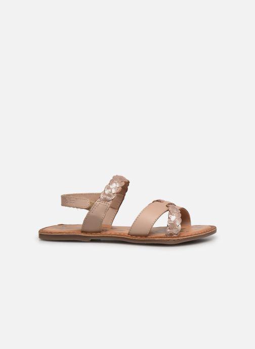 Sandalen Kickers Dimdami rosa ansicht von hinten