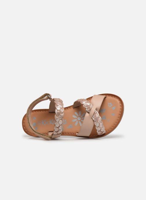 Sandalen Kickers Dimdami rosa ansicht von links