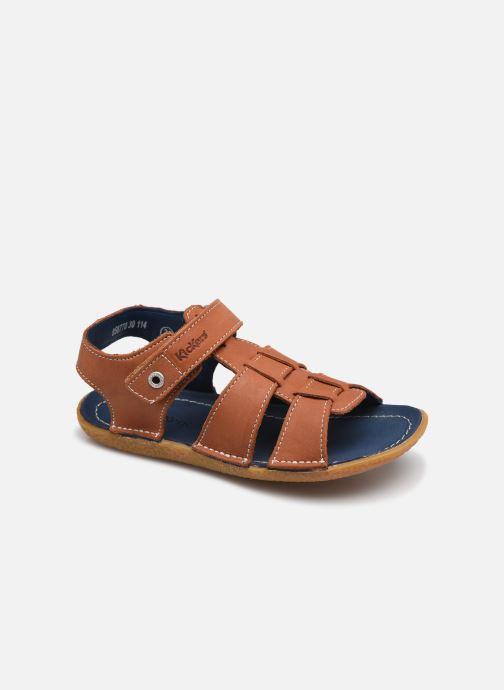 Sandales et nu-pieds Kickers Pepnut Marron vue détail/paire