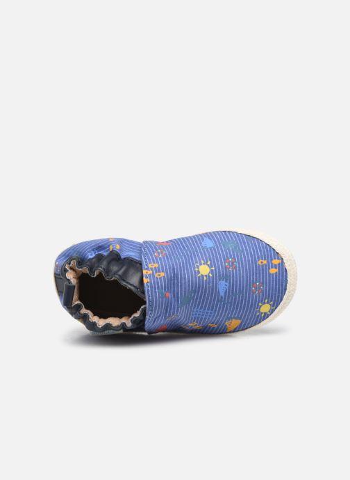 Pantoffels Robeez Sunny Camp Blauw links