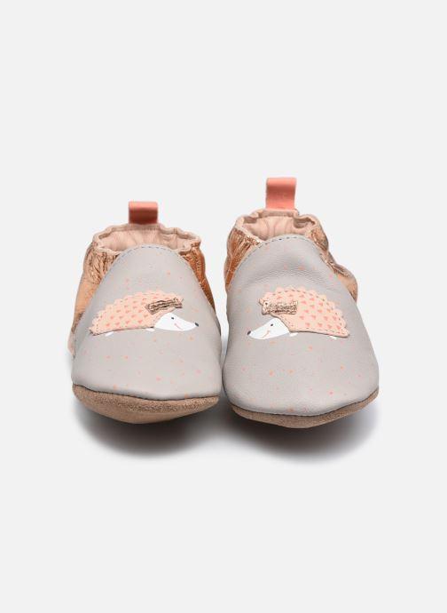 Chaussons Robeez Pink Hedgehog Gris vue portées chaussures
