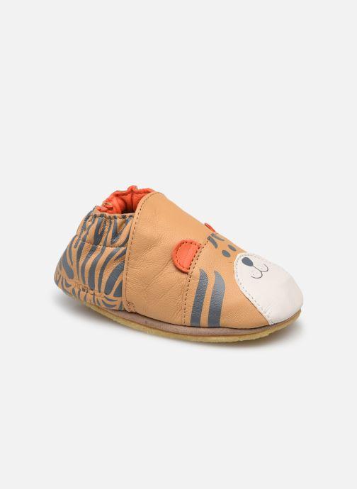 Pantoffels Robeez Awesome Tiger Bruin detail