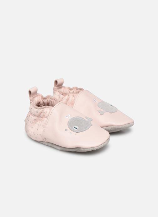 Chaussons Robeez Pink Whale Rose vue détail/paire