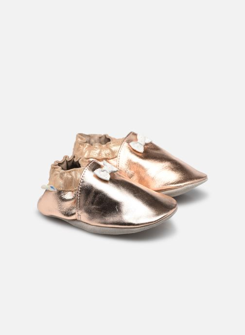 Chaussons Robeez Collection Knot Argent vue détail/paire