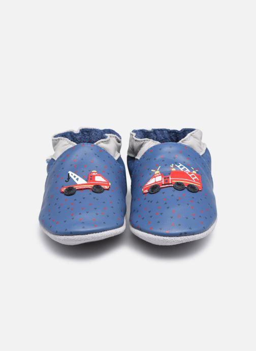 Chaussons Robeez Fire Heroes Bleu vue portées chaussures