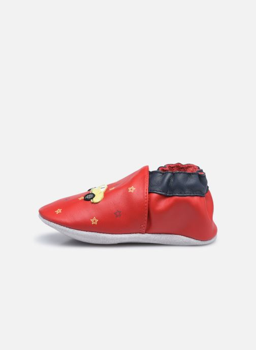 Chaussons Robeez Little Vroum Rouge vue face