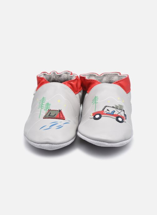 Chaussons Robeez Holiday Camp Gris vue portées chaussures