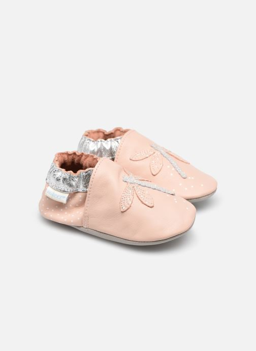 Chaussons Robeez Shiny Dragon Fly Rose vue détail/paire