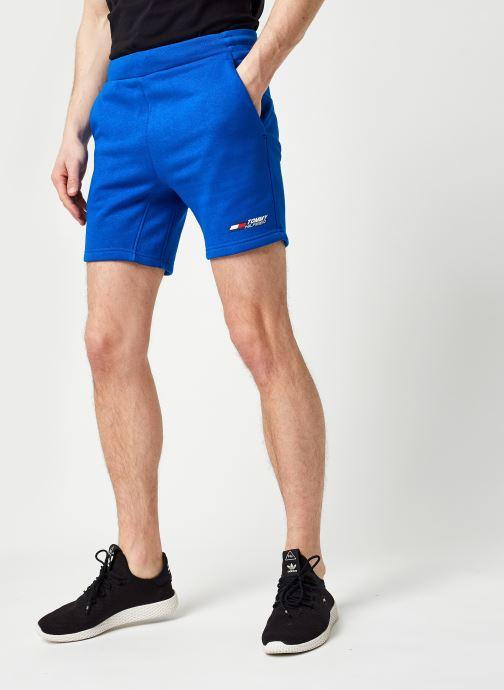 Vêtements Tommy Sport Logo Fleece Short M Bleu vue détail/paire