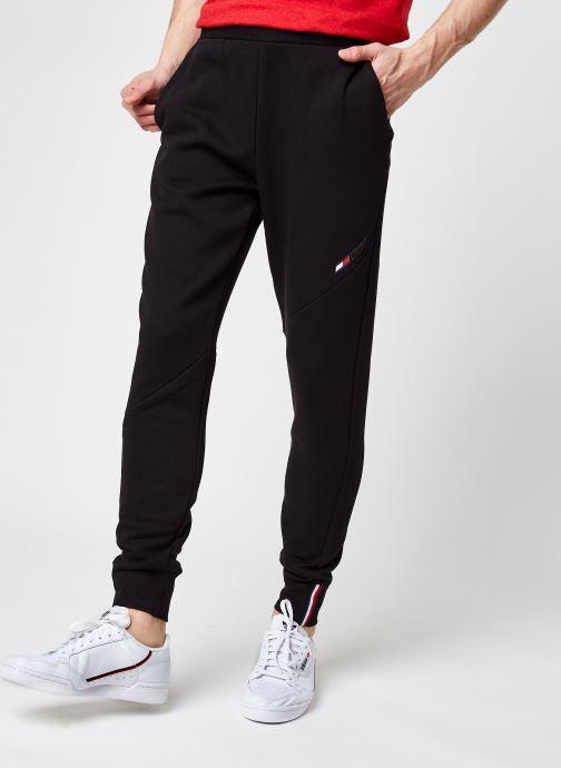 Kleding Tommy Sport Logo Fleece Pant M Zwart detail