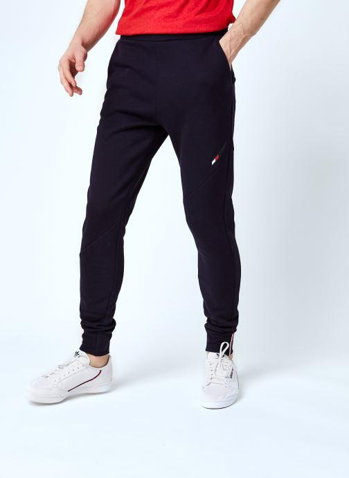 Vêtements Tommy Sport Logo Fleece Pant M Bleu vue détail/paire