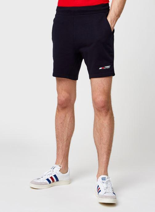 Vêtements Tommy Sport Terry Logo Short M Bleu vue détail/paire