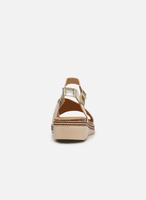 Sandales et nu-pieds Dorking Espe D 8540 Argent vue droite