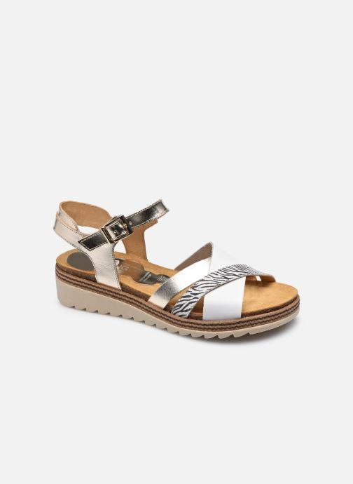 Sandales et nu-pieds Dorking Espe D 8541 Blanc vue détail/paire