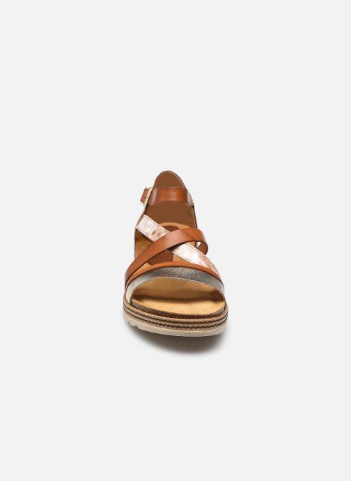 Sandalen Dorking Espe D 8542 braun schuhe getragen