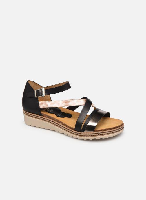 Sandales et nu-pieds Dorking Espe D 8542 Noir vue détail/paire
