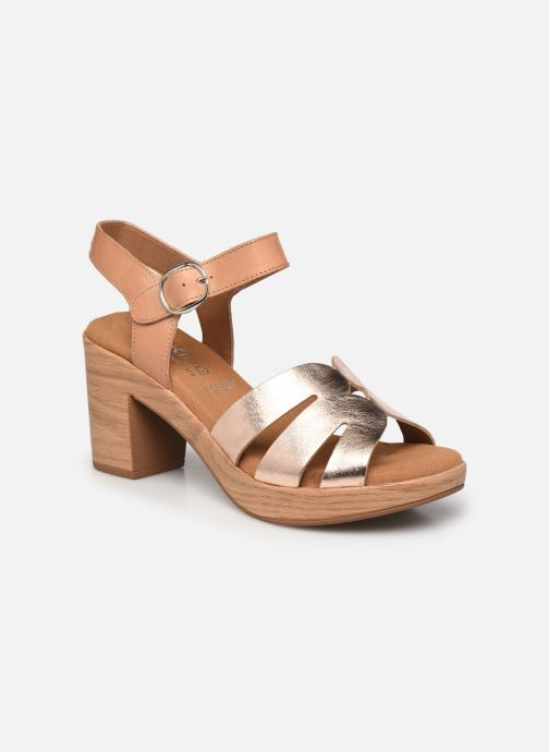 Sandales et nu-pieds Dorking Pilar D 8556 Beige vue détail/paire