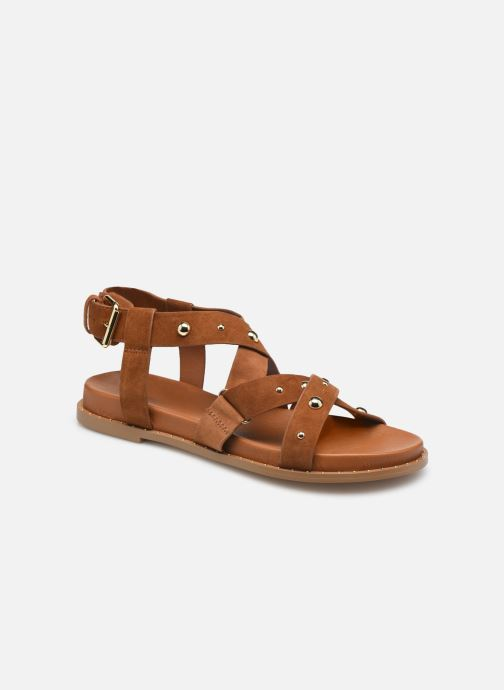 Sandales et nu-pieds COSMOPARIS HISIA/VELSTUD Marron vue détail/paire