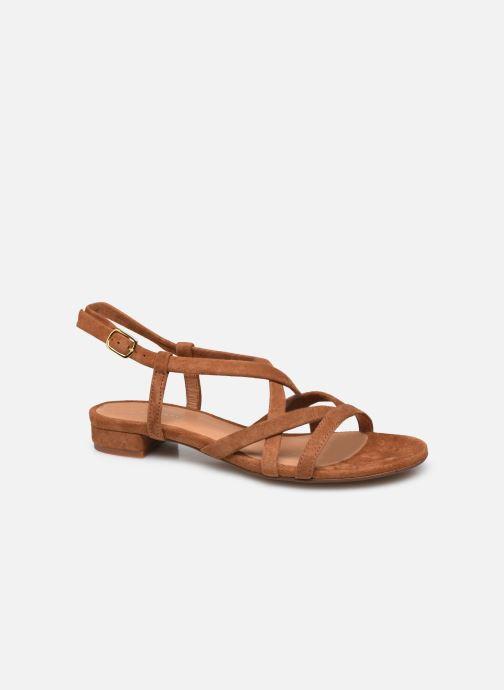 Sandales et nu-pieds COSMOPARIS VELICE/VEL Marron vue détail/paire