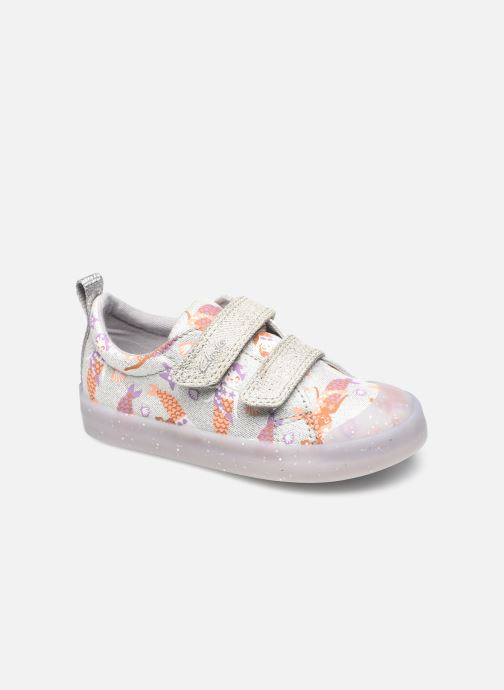 Sneakers Clarks Foxing Print T Zilver detail